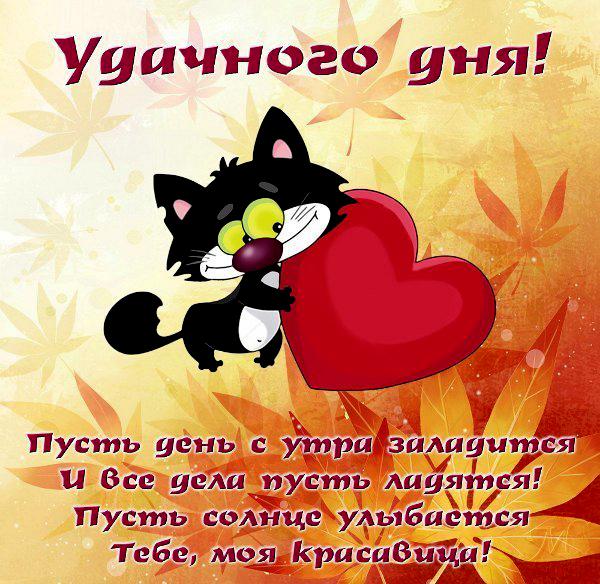 Днем, открытки пожелания удачного дня любимому