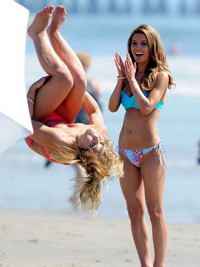 приколы пьяные девушки на пляже