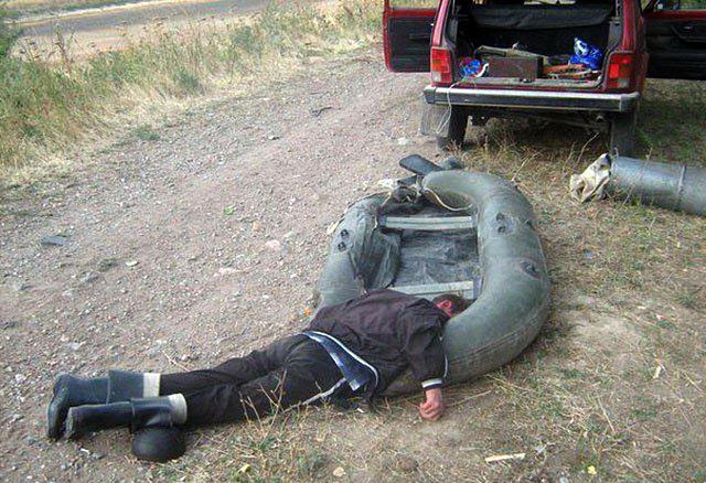 на рыбалке пьяные фото