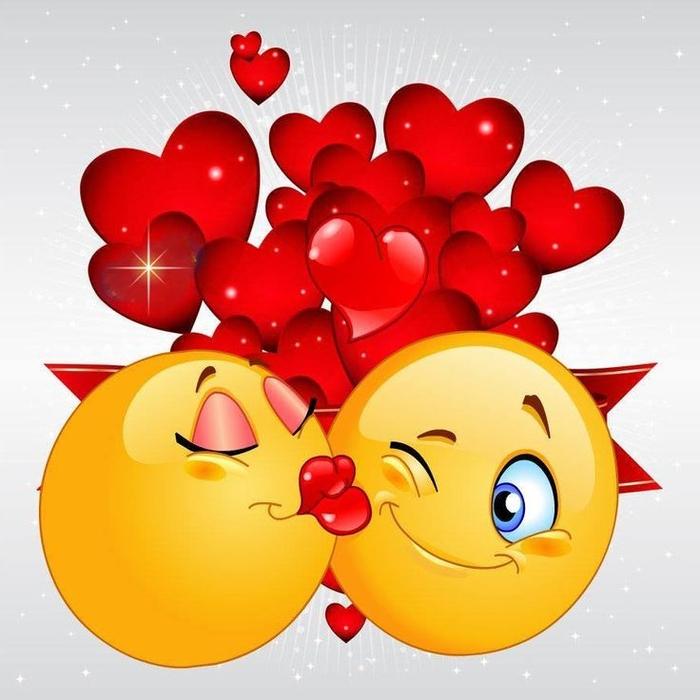 Фон, смайлики картинки веселые поцелуйчики
