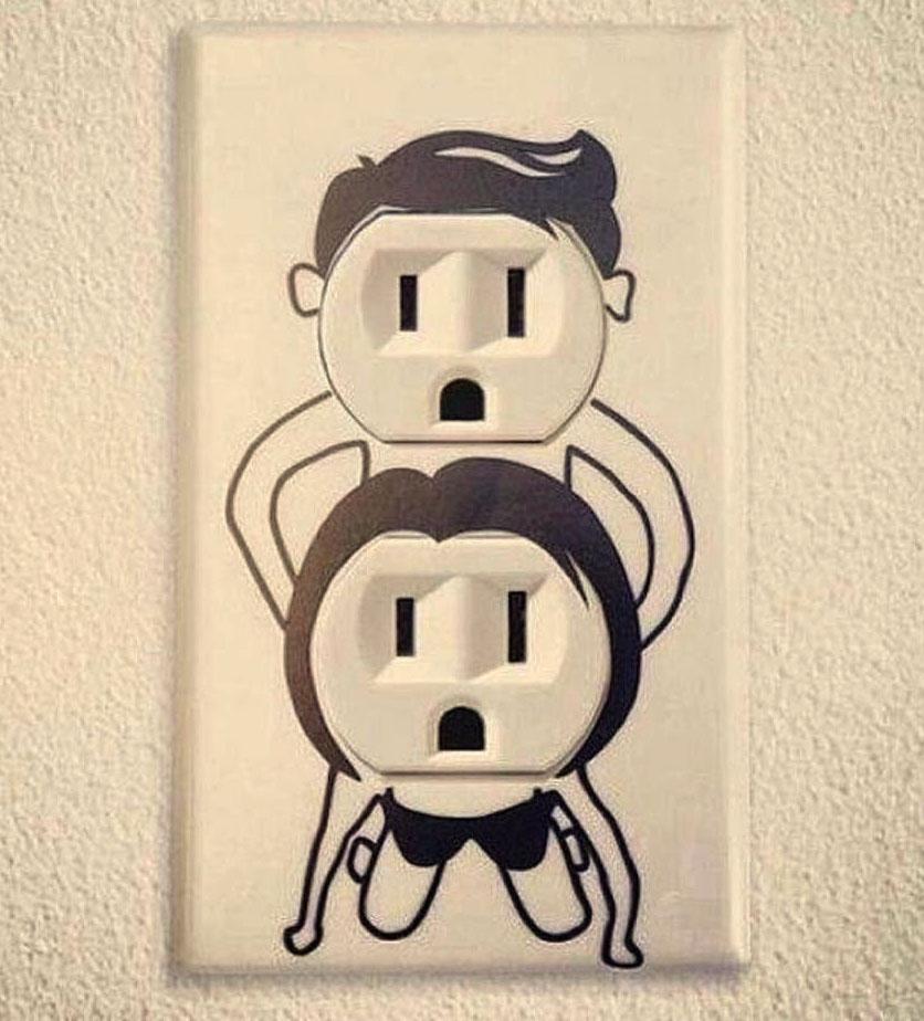 приколы электриков с розеткой