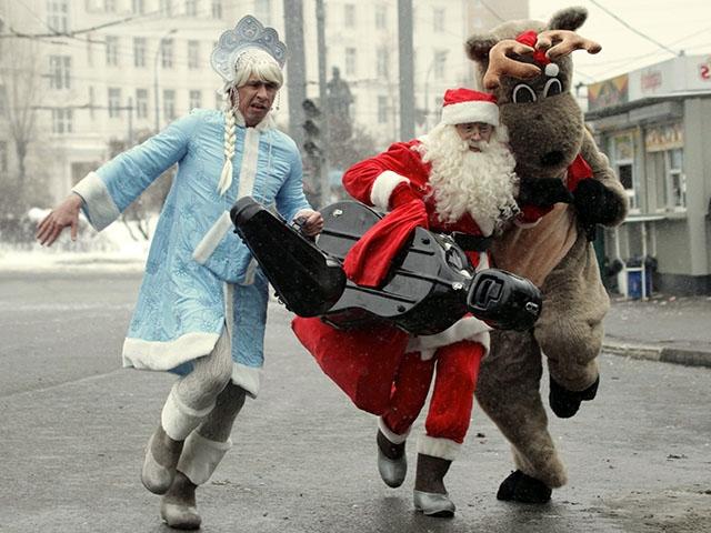 55 фото Деда Мороза и Снегурочки: прикольные и сме...