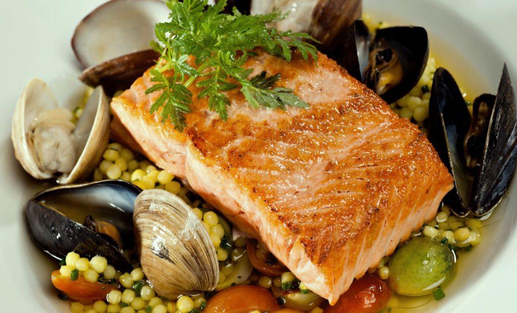 Свежие рыбные блюда