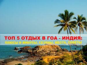 Топ 5 отдых в Гоа - Индия: Плюсы и Минусы, Сезоны,...