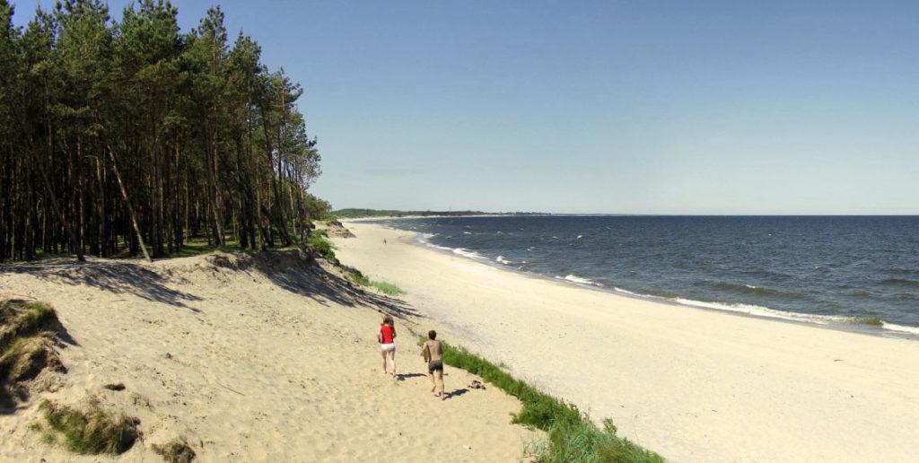 отдых в России летом на пляже Янтарном